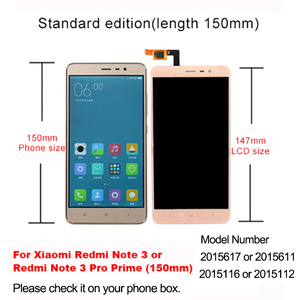 Image 2 - Screen For Xiaomi Redmi Note 3 Pro LCD Display With Frame Soft Key Backlight Touch Screen For Xiaomi Redmi Note 3 150mm Edition