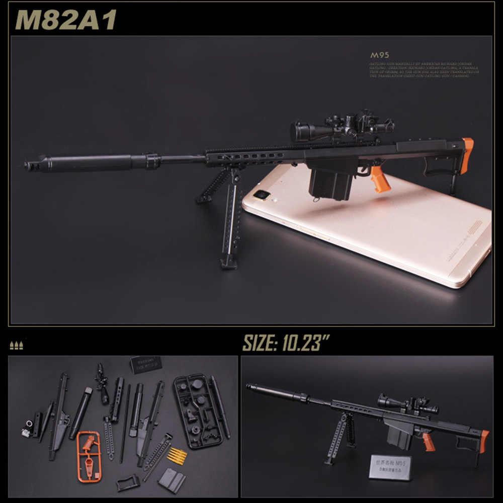 1:6 1/6 Schaal 12 Inch Action Figures M82A1 Sinper Geweer Model Voor 1/100 Mg Bandai Gundam Model Kids Toy willekeurige Kleur HYY0324