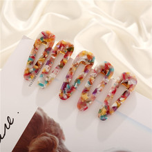 Vintage Colorful Acrylic Hair Pin Water Drop Clip Comb Barrette Hairpin Hairband Styling Accessories for Women1PC