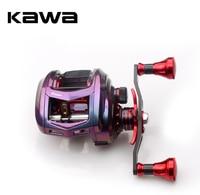 Kawa New Fishing Reel Bait casting Reel Magnetic Brake Bearing 11+1 Carbon Handle Metal Knob Rainbow Color Body Max Drag 11KG