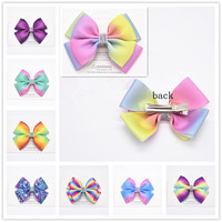 20 color big bow hair clip alligator girl bowknot large iris HAIRBOWS children hair accessories, fashion gifts for children 1pcs Girls Accessories
