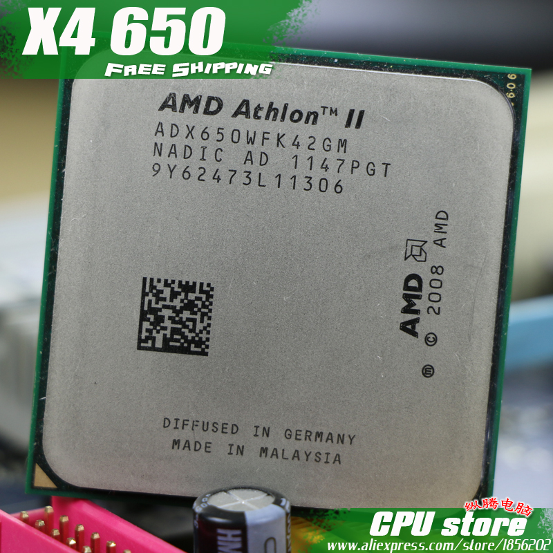 AMD Athlon II X4 650 CPU Processor Quad CORE 3 2Ghz L2 2M 95W 2000GHz Socket