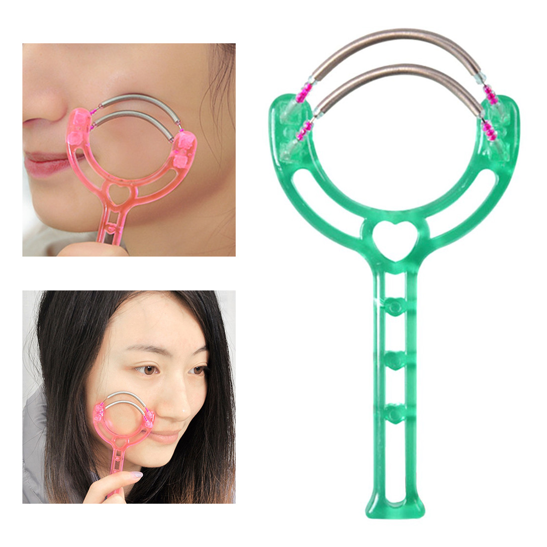 Good Quality 1 PC Handheld Double Springs Roller Face Hair Removal Epilator Hair Threader Facial Hair Removing Tool Random Color