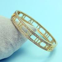 Luxury Men Bangle Best Anniversary Jewelry Make Rubber Band Bracelet Shiny Cool Pulseiras Femininas Pulsera Ouro Bridal Jewelry