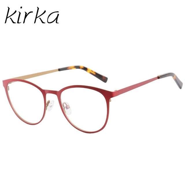 Kirka Metal linda joven tipo mujeres gato ojo gafas marcos para ...