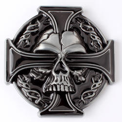 Крест Пряжка на ремешке с черепом DIY Металлические пряжка на ремешке