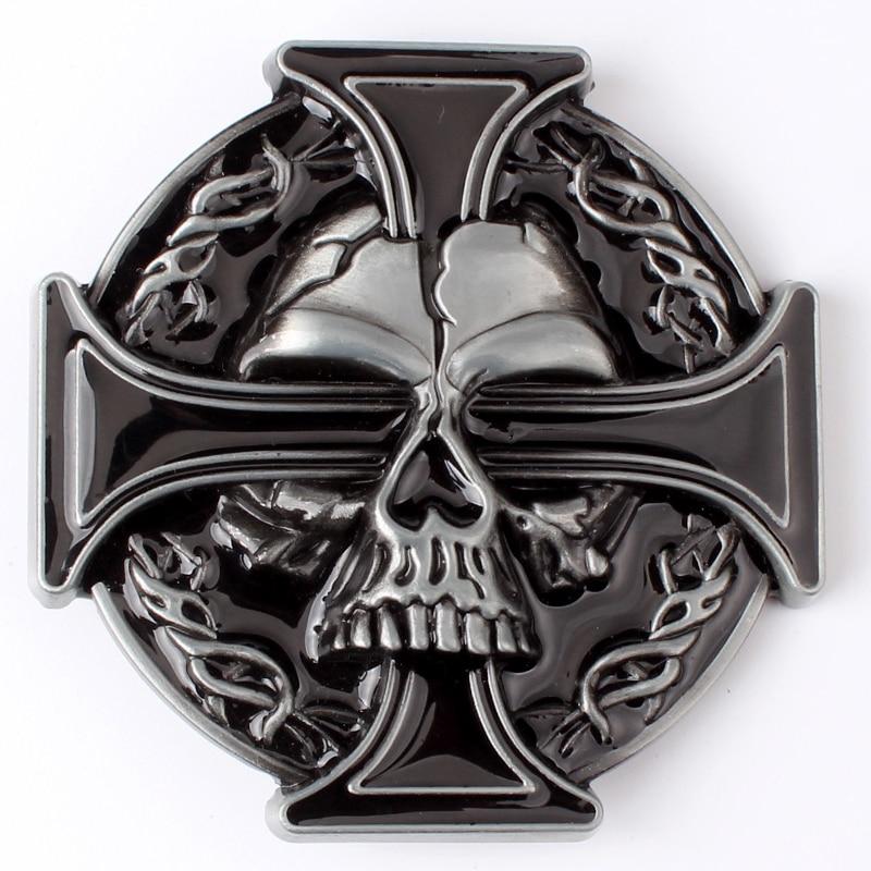 Cross Belt Buckle With Skull  Diy Metal Belt Buckle