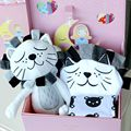 2017New 3Pieces Baby Romper Toy Blanket Sets Cartoon Lion Doll Comfort Toy Princess Prince Gift Newborn Infant Birthday Gift