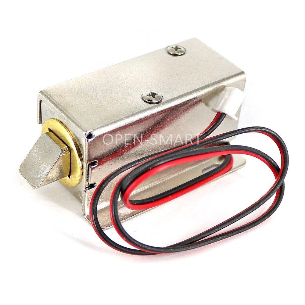 Mini DC 12V Access Control Electromagnetic Lock Electric Cabinet Lock Adjustable Orientation Of Lock Bolt Drawer, Storage Locker