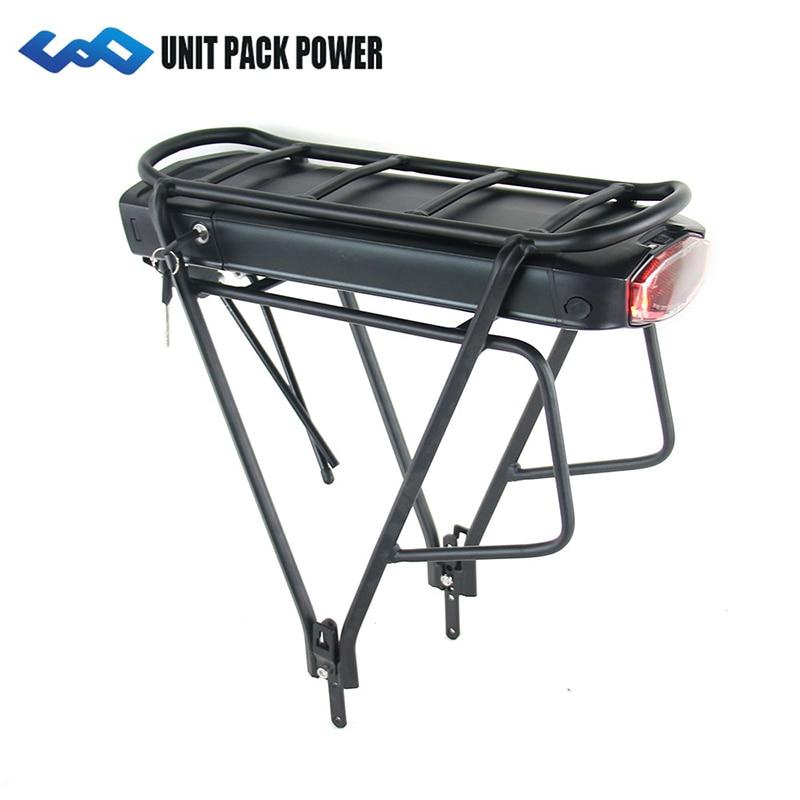 UPP задняя стойка 36 В 14.5Ah 17.5Ah E-Bike батарея samsung Cell 350 Вт 500 Вт EBike li-ion батарея + двухслойная багажная стойка