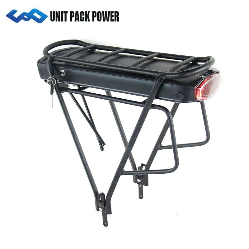 UPP Rack Traseiro 36 V 14.5Ah 17.5Ah E Moto-Bateria Celular Samsung 350 W 500 W EBike Bateria Li-ion + dupla Camada Rack de Bagagem