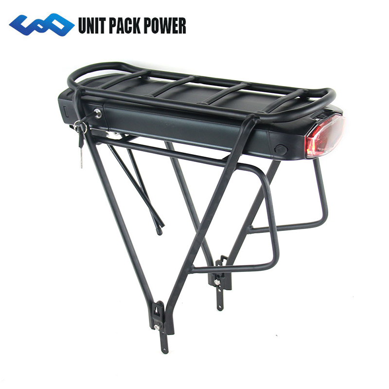 UPP Rear Rack 36V 14.5Ah 17.5Ah E-Bike Battery Samsung Cell 350W 500W EBike Li-ion Battery+Double Layer Luggage RackUPP Rear Rack 36V 14.5Ah 17.5Ah E-Bike Battery Samsung Cell 350W 500W EBike Li-ion Battery+Double Layer Luggage Rack