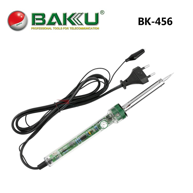 baku soldering iron temperature adjustable solder with transparent handle bk 456 high quality. Black Bedroom Furniture Sets. Home Design Ideas