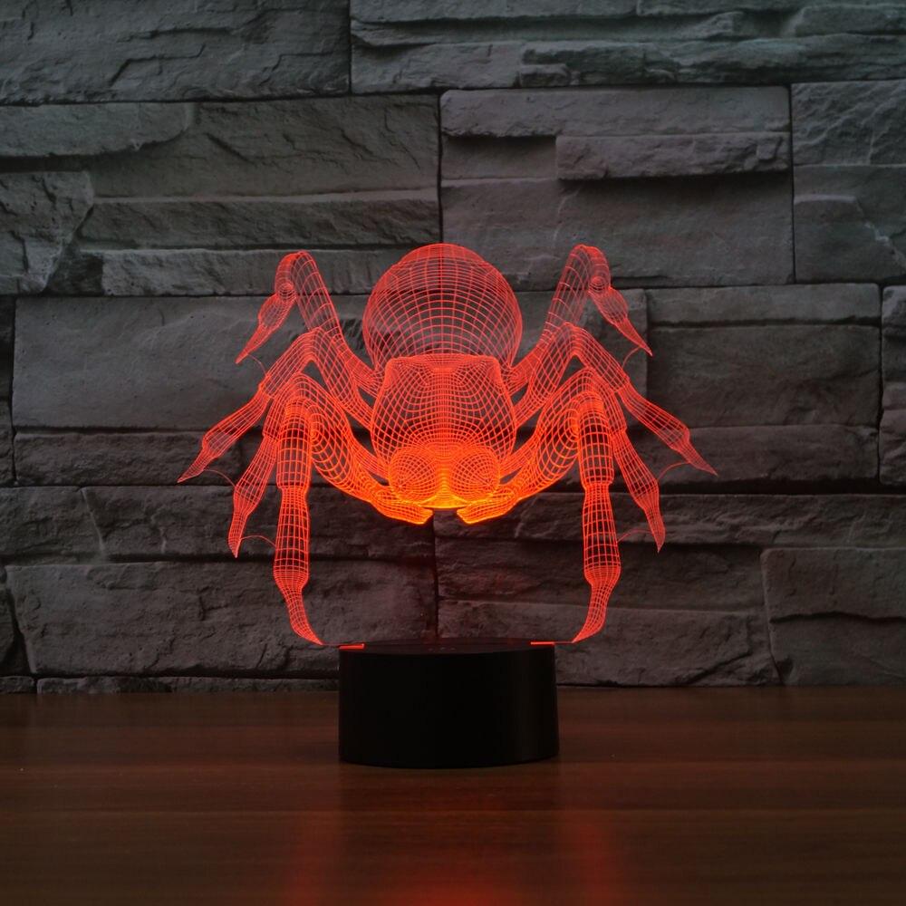 Kreative led 3d lampe spinne optische täuschung dekoration ...