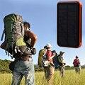 A capacidade real de 8000 mah resistência à prova d' água carregador de viagem banco de potência portátil solar enternal bateria powerbank para iphone