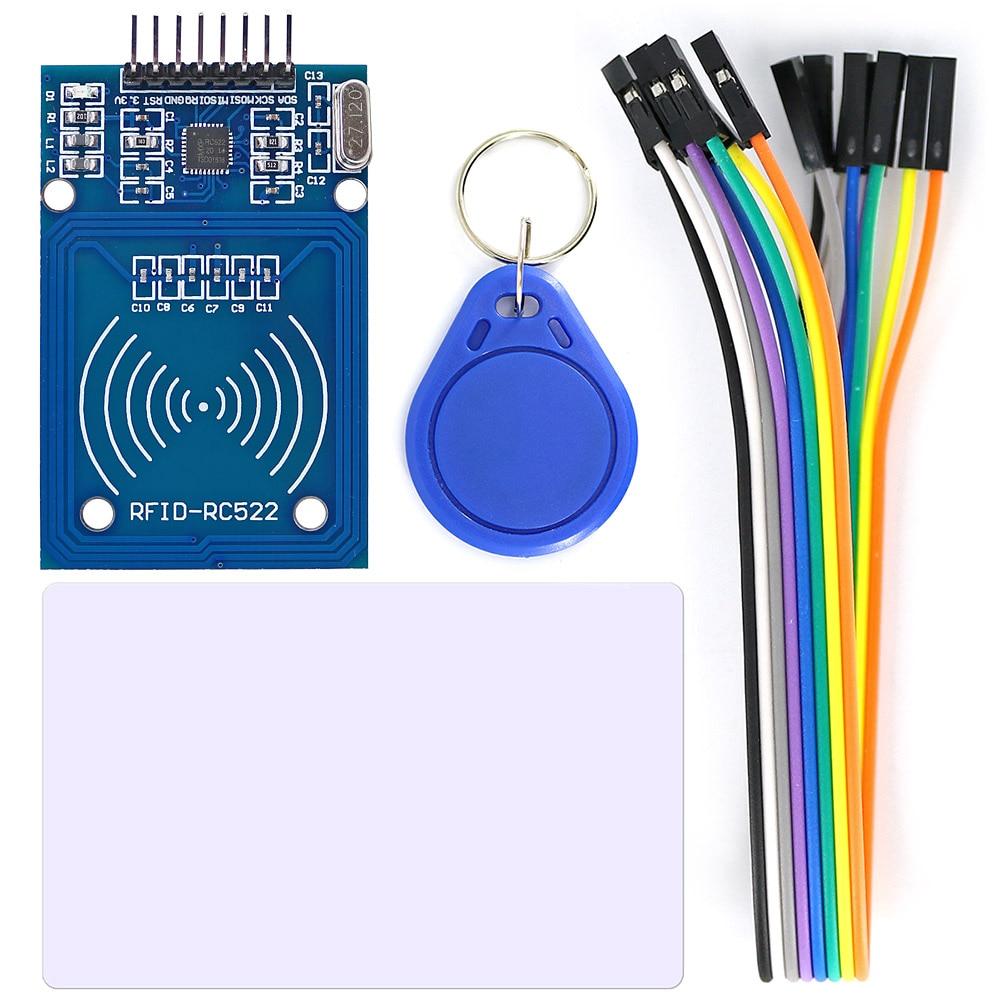 Модуль считывания rfid-карт OPEN-SMART RC522, комплект с кабелем 8P для Arduino с картой S50/брелоком