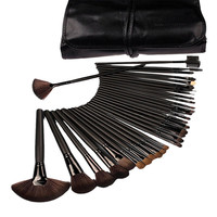 32Pcs Pro Cosmetic Makeup Brushes Set Kit With Synthetic Leather Case Eye Shadow Blusher Powder Blending