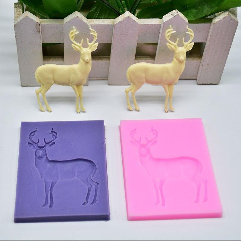 Silicone Mold Elk Shape Mould Safe Kitchen Suger Chocolate Crafts Kids