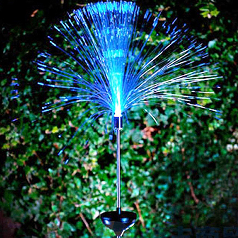 Beatiful Fiber optic lamp solar 7 colour change The lawn ground lamp Christmas lights garden lights