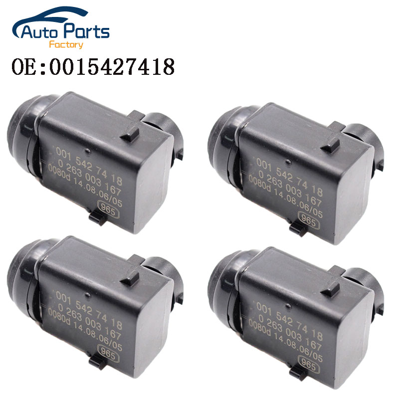4 PCS Parking Distance PDC Sensor For <font><b>Mercedes</b></font> <font><b>W203</b></font> W209 W210 W211 W220 W163 W168 W215 W 251 S203 C203 0015427418 0263003167 image