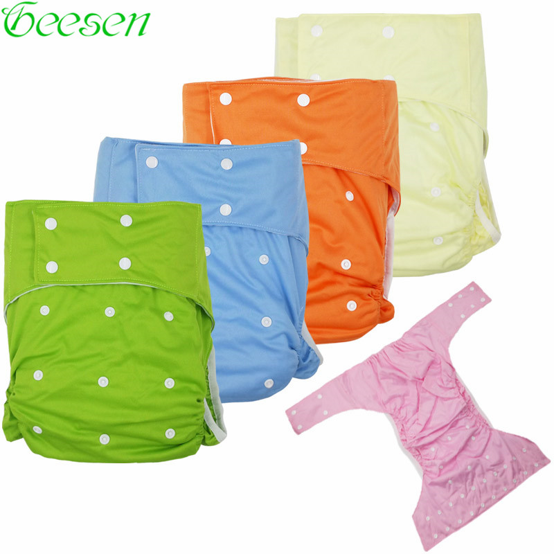 Washable Adult Cloth Diaper Suede Inner Incontinence Pants Waterproof Reusable Children Nappy Diaper For The Disabled