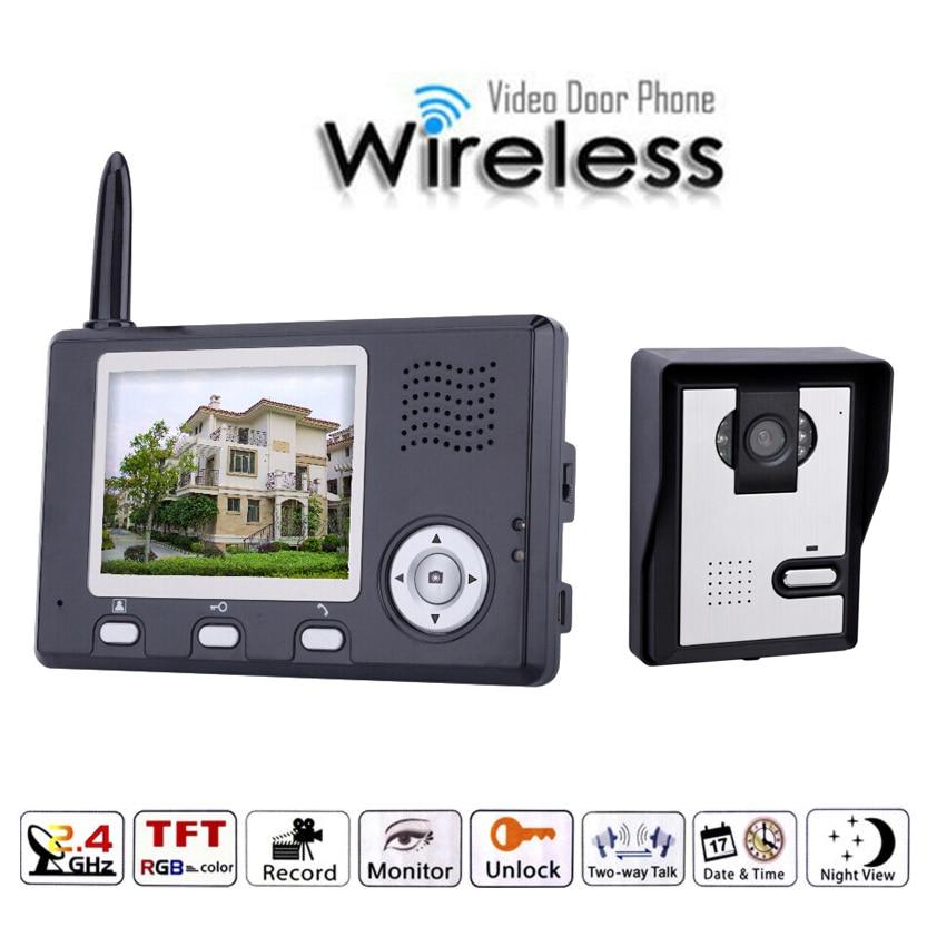 3.5 Inch Color  Camera  Wireless Intercom Video Door Phone
