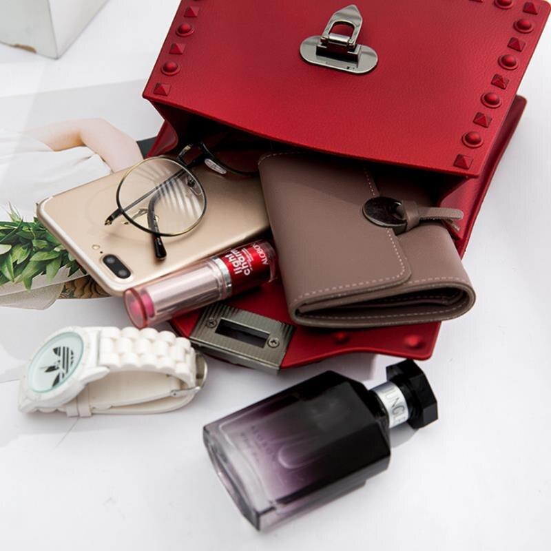 Sacos para as Casual Rivet Mulheres pu Leather