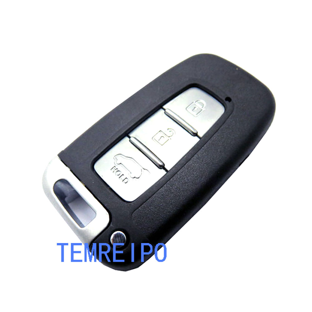 5pcs/lot Smart Card case for Kia Remote Key Fob cover With Insert Small Key Blade 3 Buttons Flip smart key shell for kia