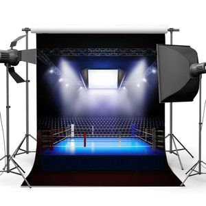 Image 1 - الملاكمة الخلفيات الداخلية ملعب أضواء للمسرح الظلام رياضية الرياضية صالة رياضية التصوير خلفية الملاكمة حلقة خلفية
