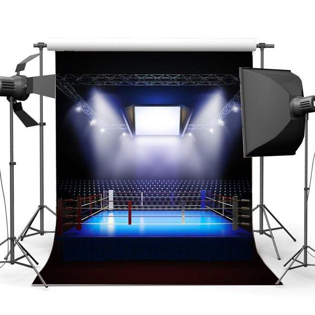 الملاكمة الخلفيات الداخلية ملعب أضواء للمسرح الظلام رياضية الرياضية صالة رياضية التصوير خلفية الملاكمة حلقة خلفية