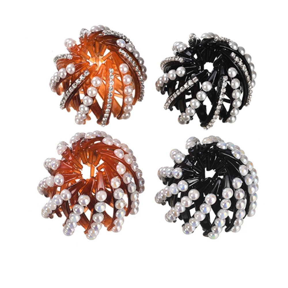 Pearl Rhinestones Colorful Bud Hair Claw Maker Bun Hairgrip Hairpins Hair Accessories Hair Clips For Women Girls Bezel in Women 39 s Hair Accessories from Apparel Accessories