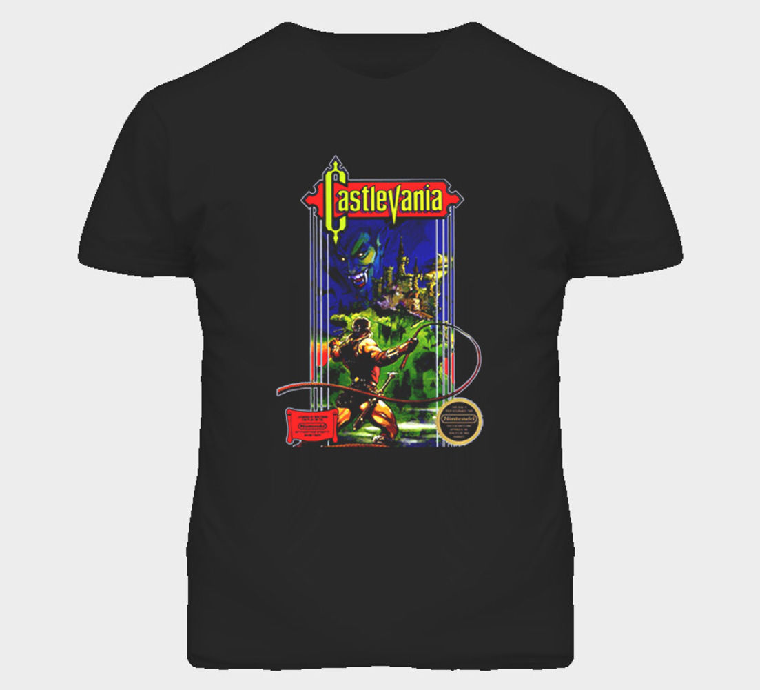Castlevania NES Retro Video Game T Shirt Short Sleeve ...