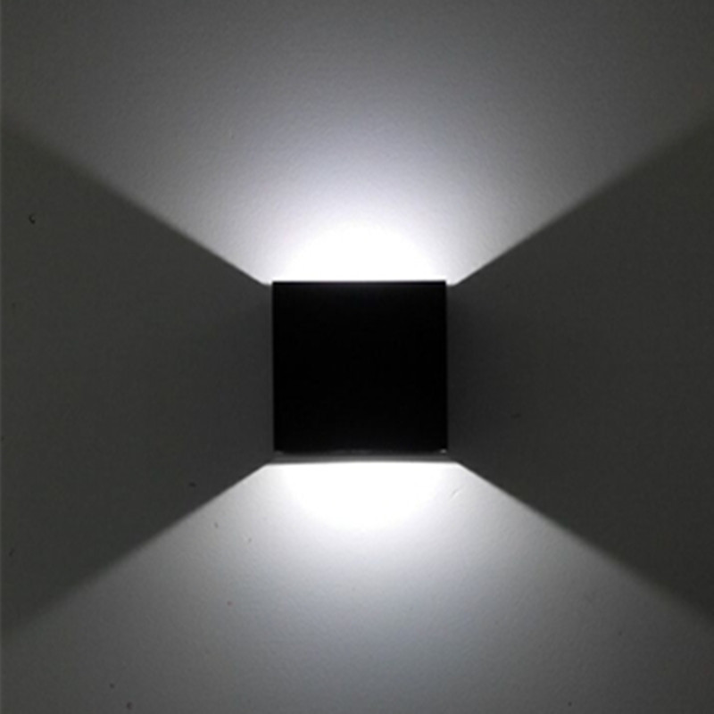 3PCS X Led Wall Lamp For TV Background Living Room Indoor Decorative Lights Cube Black Silver Gold Lampshade UpDown In Lamps From