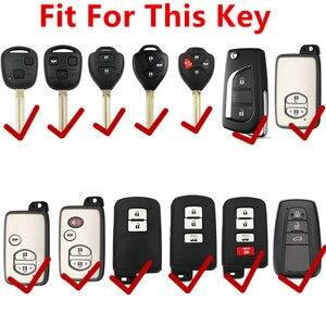 Image 2 - XIEAILI Genuine Leather Remote Key Case Cover For Toyota Camry/Reiz/Corolla/Rav4/Crown/Avalon/Prado/4Runner/CHR/Venza/Prius S03