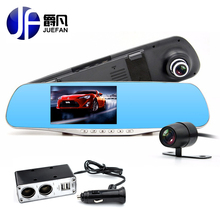 Cheapest prices 2017 ML500 Car Camera Dual Lens Rearview mirror DVR Full HD 1080P Recorder Video 140 degrees wide angle Black Box video Recorder