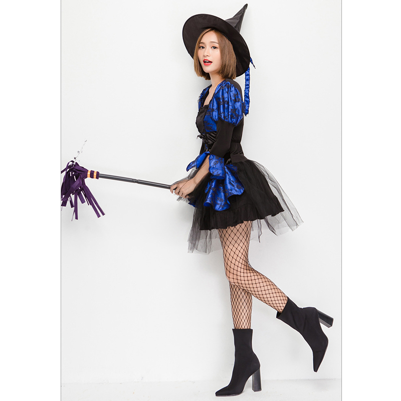 SESERIA Women Halloween Cosplay Costume Adult Witch Gothic Blue Fancy Dress Girls Outfit-in Movie u0026 TV costumes from Novelty u0026 Special Use on Aliexpress.com ...  sc 1 st  AliExpress.com & SESERIA Women Halloween Cosplay Costume Adult Witch Gothic Blue ...