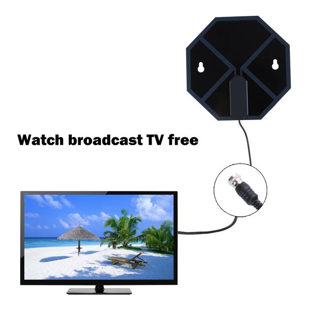X-73 HD de Alta Definição de TV Digital HDTV Antena Interna Amplificada Antena de Longo Alcance Plana VHF UHF Digital Analógico L3FE