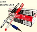 Deli Brand 0.5mm Fine Pen Black Blue Red Gel Ink Pen with Excellent Smooth Writing Point wholesale acceptable 1 3 6 12 PCS