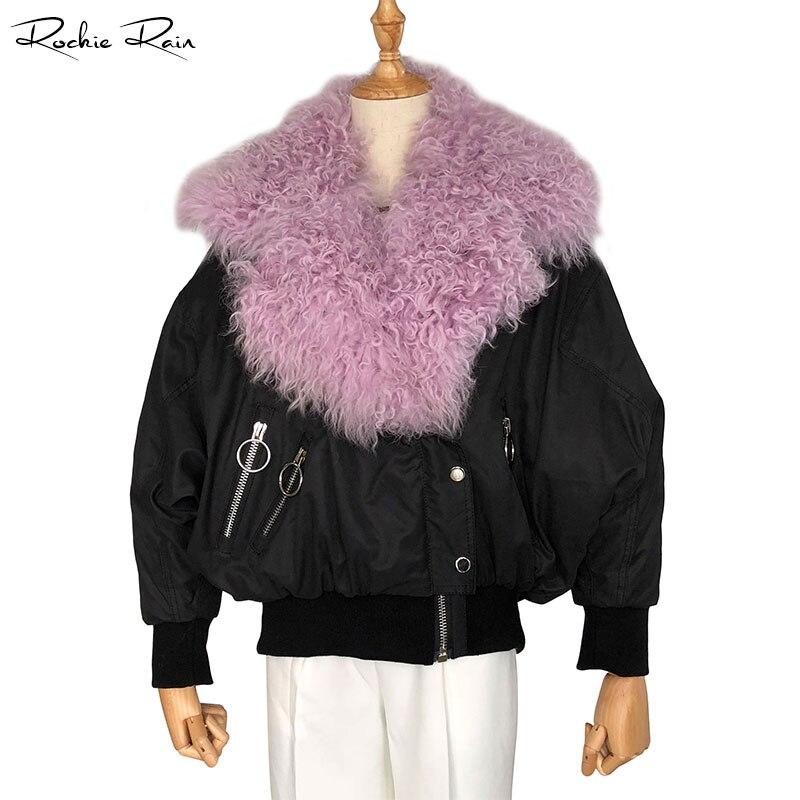 Bas red Le De Automne vent Vestes Longues Hiver Agneau Pardessus Coupe Manteaux Occasionnels Vers Chaud Avec Purple Fourrure Col Et Femmes RCxAwqIwt