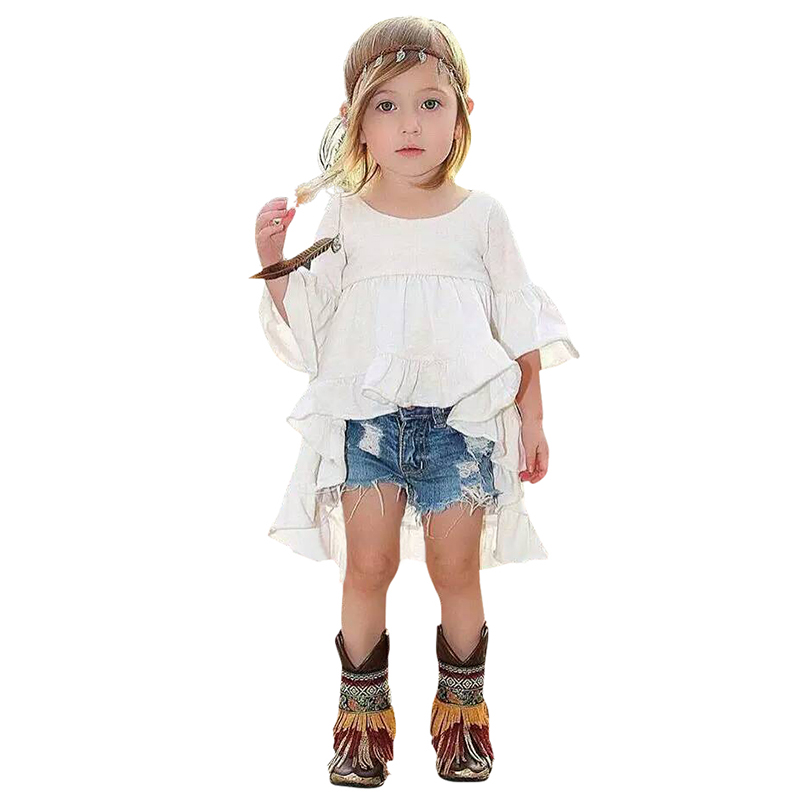 d6af80704 الطفل فساتين الاطفال ملابس الأطفال أزياء الفتيات الخيزران القطن ذيل السمكة  اللباس الصيف فتاة بيضاء اللباس