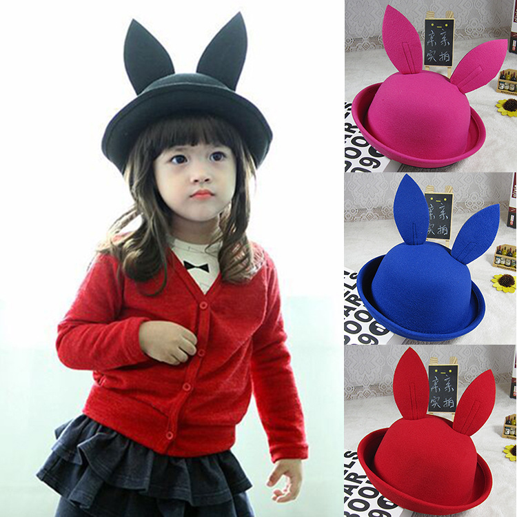 Children three-dimensional cartoon big ears rabbit hat child autumn and winter wool hat baby basin cap hip-hop hat beanies