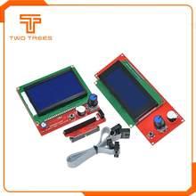1pc lcd 12864 rampas peças inteligentes rampas 1.4 controlador painel de controle lcd 12864/2004 monitor placa-mãe módulo tela azul