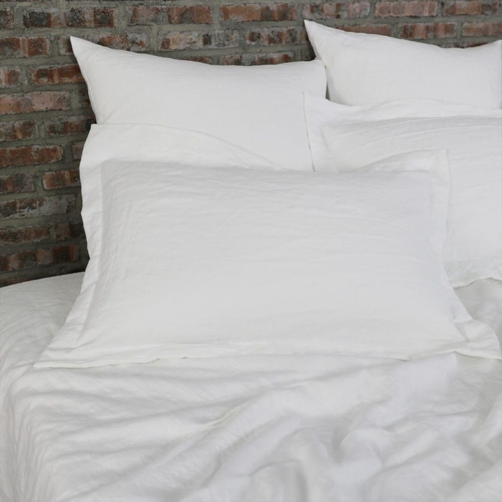 Pure Linen Duvet Cover King Size French Washed Bed Linen Bedding