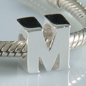 original 925 sterling silver letter beads diy jewelry fit for pandora charm bracelet free shipping