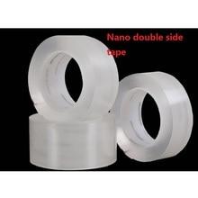 Fita de silicone transparente dupla face adesivo adesivo anti deslizamento fita mágica nano livre fitas recicláveis lavável