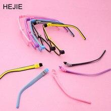 Fabryka cena moda dzieci silikonowe oprawki okularowe bez śrub niezniszczalny chłopcy dziewczęta z łańcuchem rozmiar 48 15 130 Y1072