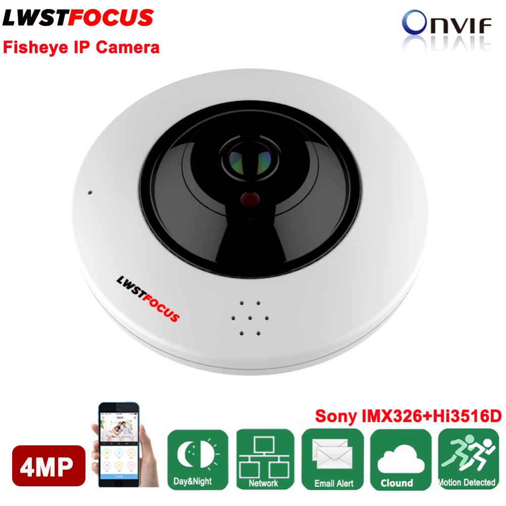 4MP Fisheye IP Камера sony IMX326 360 градусов Мини Wi Fi Камера 4MP сетевой безопасности дома Камера панорамный ИК камера наблюдения