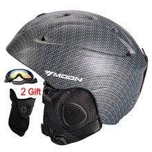 MOON Top Quality Skiing Helmet PC+EPS Ultralight Ski Helmet Extreme Sports Snowboard/Skateboard Helmet 368g Size S/M/L/XL