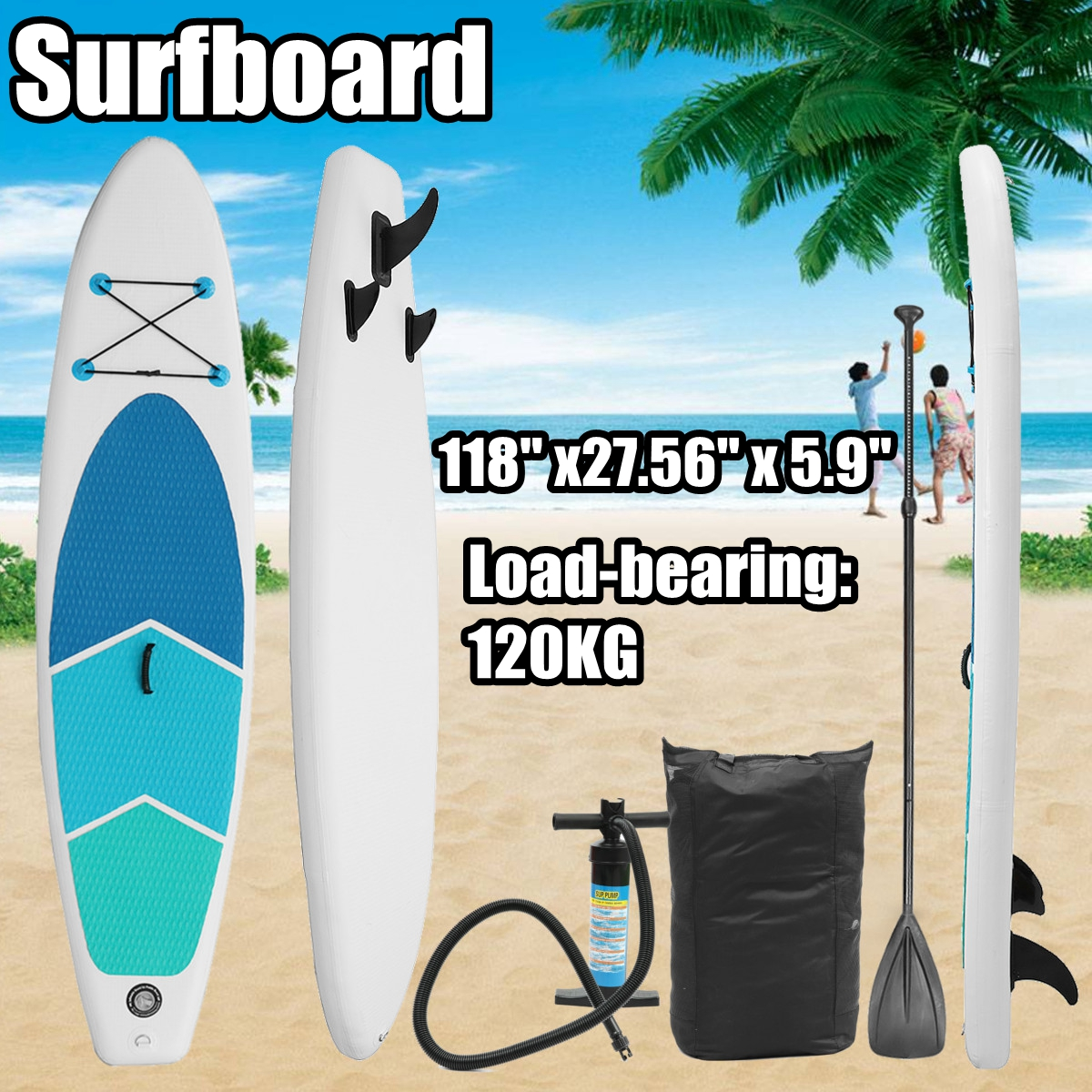 Gofun 3MX0.7MX0.15M Inch Stand Up Paddle Surfboard Inflatable Board SUP Set Wave Rider + Pump inflatable surf board paddle boat water sport inflatable sup board surf stand up paddle boards