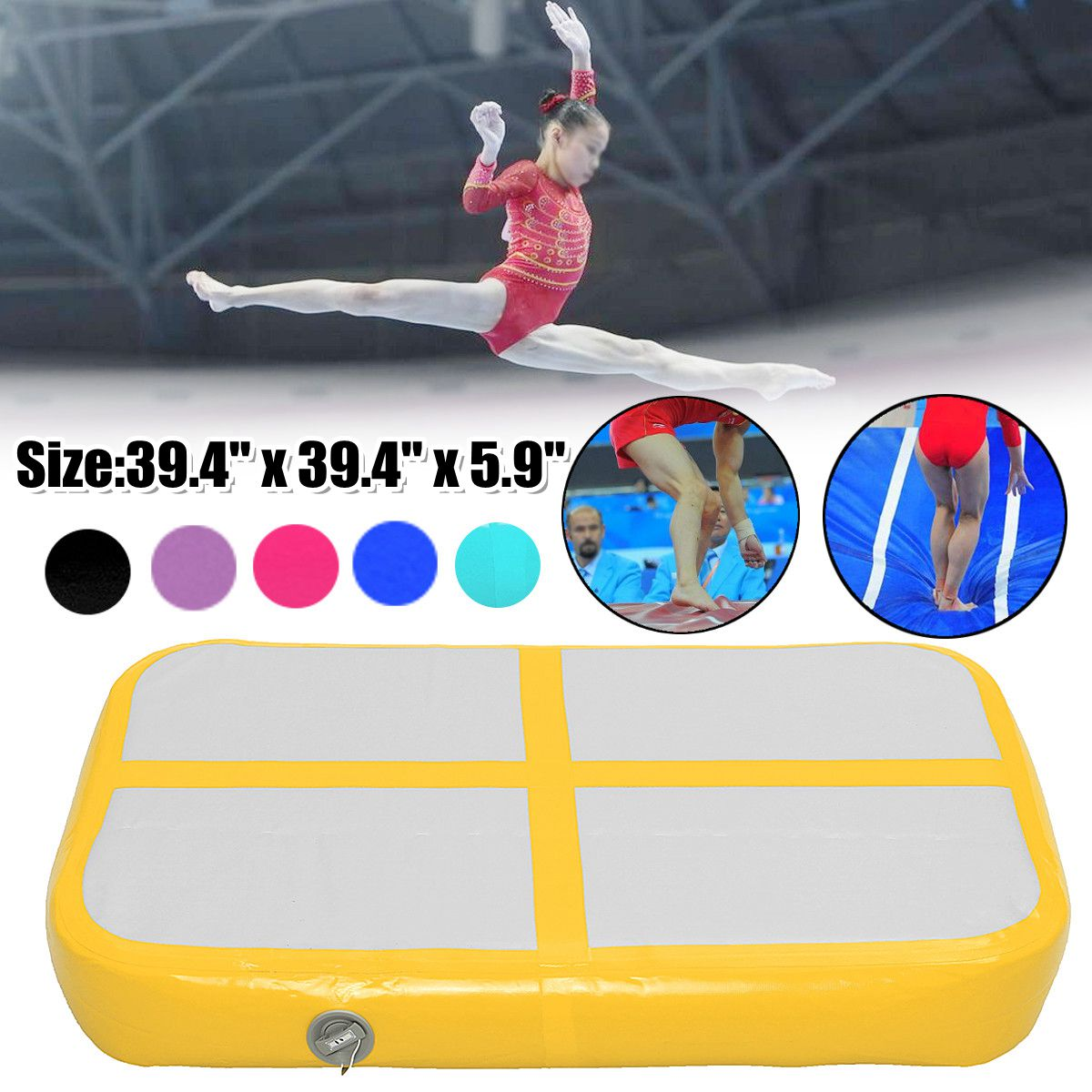 1mx0.6mx15cm Inflatable Cheap Gymnastics Mattress Gym Tumble Airtrack Floor Tumbling Air Track high quality 4 1 0 2m inflatable air track gymnastics air track trampoline for water games